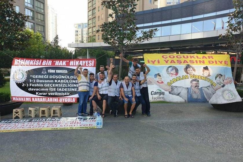 Cargill işçileri direnişlerini İstanbul'a taşıdı