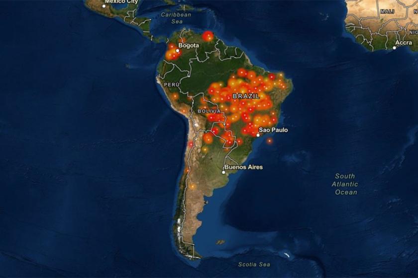 Amazon ormanlarında 2 bin 500 noktada yangınlar sürüyor