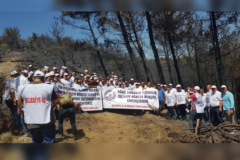 Belediye İş İzmir Şubeleri #izmirküllerindendoğacak kampanyası için çağrı yaptı