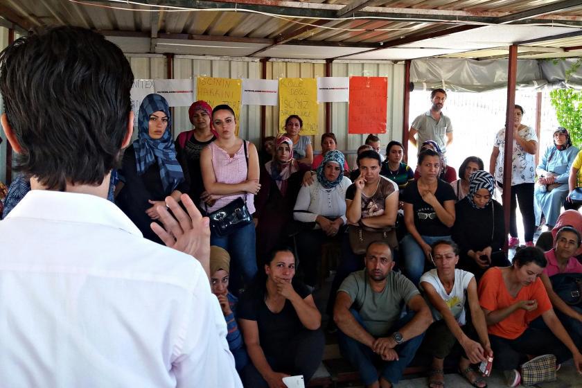 TR-İnter Tekstil işçilerinin direnişi Çiğli'ye taşınıyor