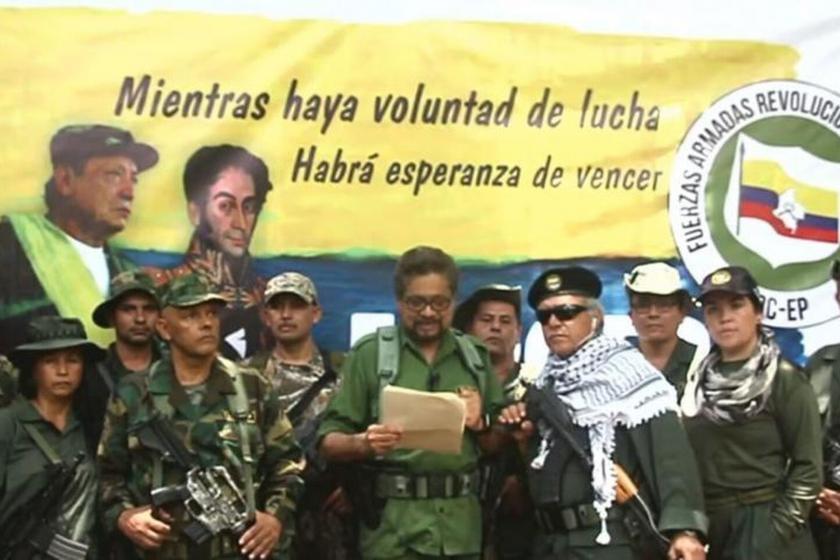 FARC tarafından yayımlanan videonun ekran görüntüsü