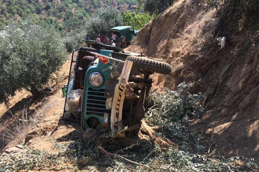 İncir işçilerini taşıyan araç uçurumdan yuvarlandı: 1 işçi öldü, 5 kişi yaralandı
