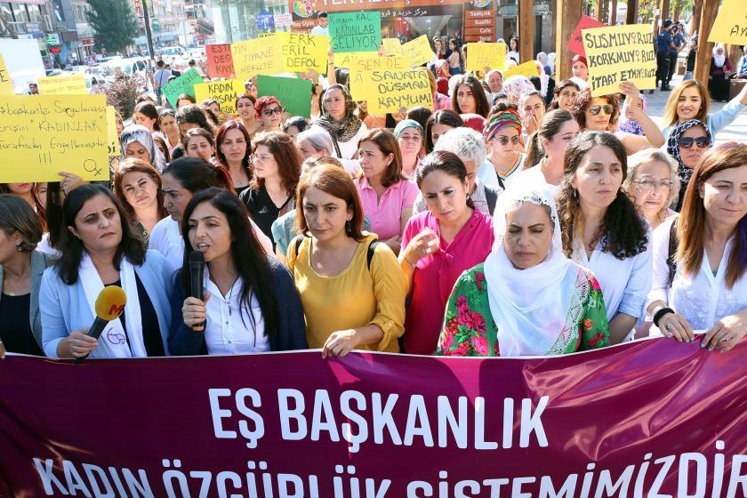 """Van'da """"Eş başkanlık Mor Çizgimizdir"""" eylemine katılan eş başkanlara soruşturma"""