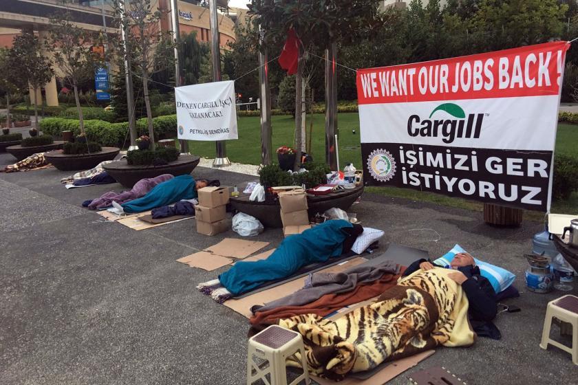Cargill'de direniş sürüyor, CHP'li Tanal geceyi işçilerle geçirdi