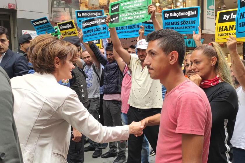 Canan Kaftancıoğlu, İBB'deki işlerinden çıkarılan işçilerle görüştü