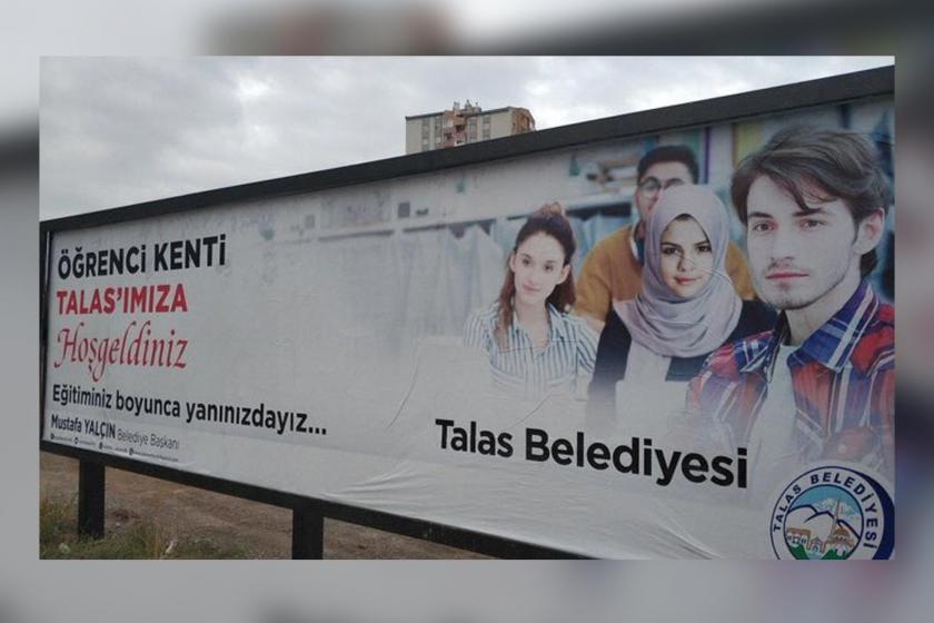 Kayseri Talas Belediyesi, Selena Gomez'e fotomontajla başörtüsü taktı
