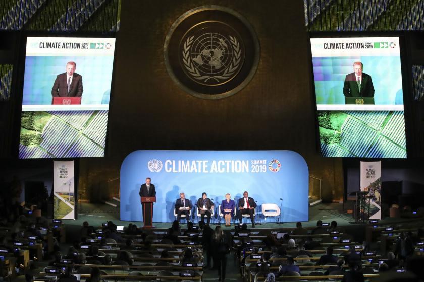 İklim Zirvesi'nde konuşan Erdoğan: Orman varlığını artıran nadir ülkelerdeniz