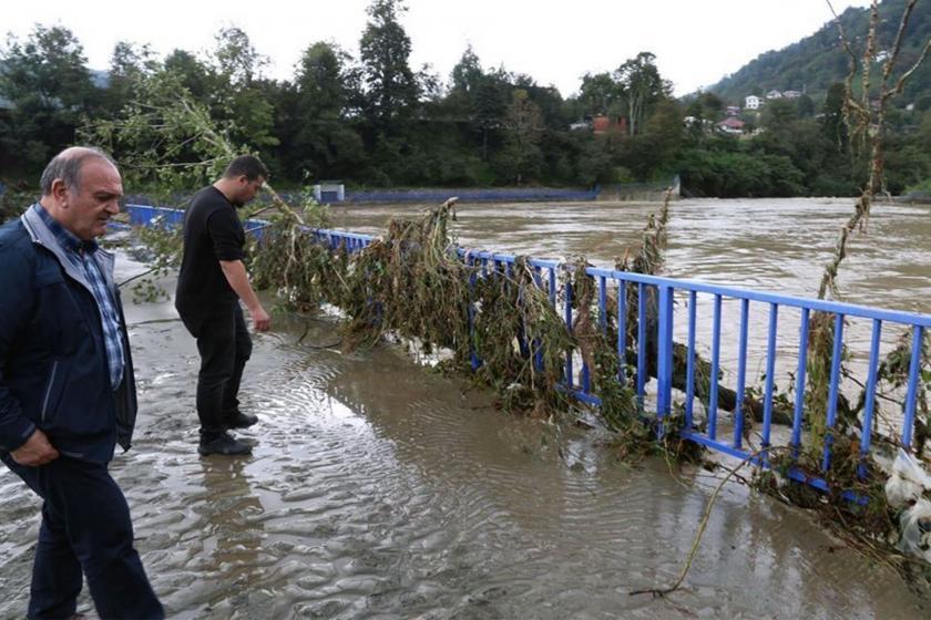 Arhavi'de yağışlar hasara neden oldu