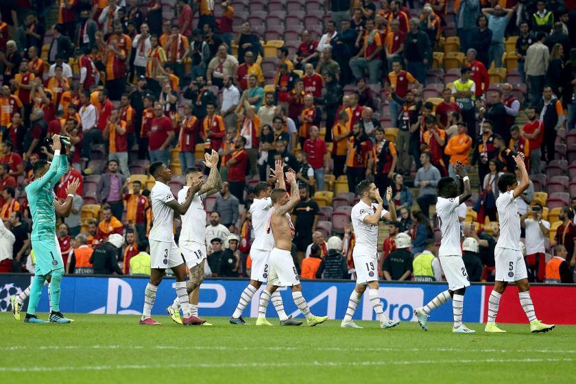 Galatasaray, UEFA Şampiyonlar Ligi A grubu maçında Paris Saint Germain'e 1-0 yenildi