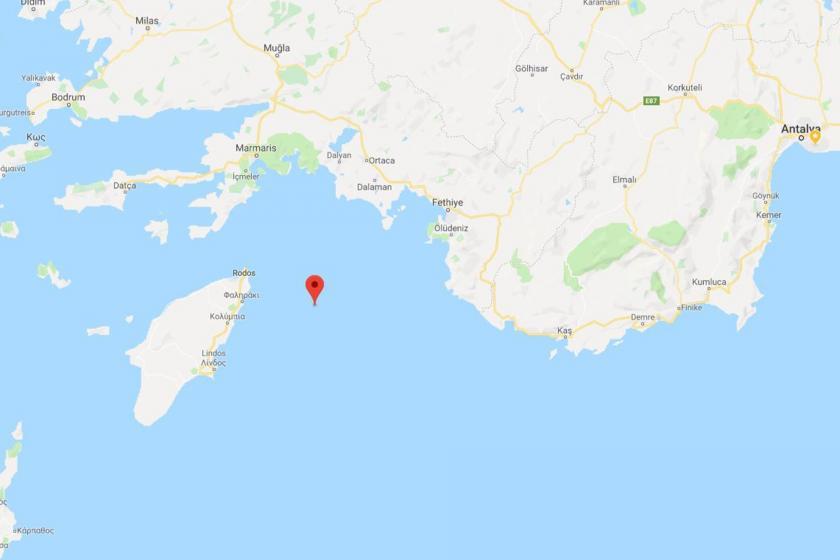 Akdeniz'de 5.1 büyüklüğünde deprem