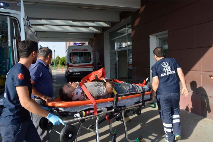 Adıyaman'da, iskeleden düşen işçi yaralandı