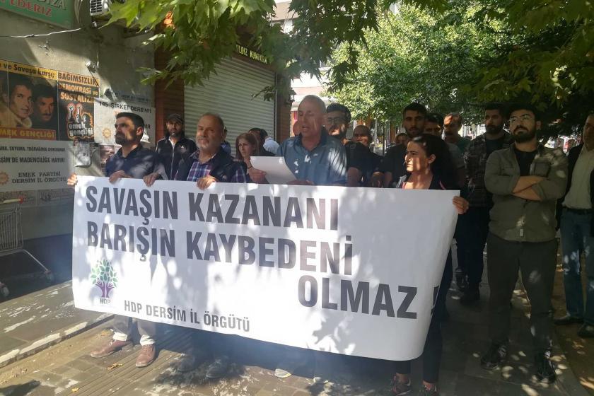 Dersim'de HDP'nin 'Suriye operasyonu' açıklamasına polis engeli