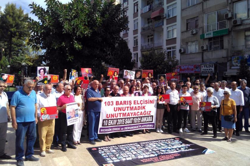 10 Ekim'de yaşamını yitirenler Türkiye genelinde anılıyor: Barış talebinde ısrarcıyız