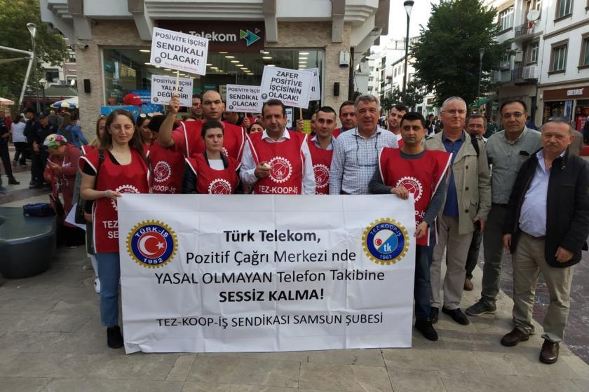 Ordu'da Tez-Koop-İş üyesi işçilere yönelik baskı protesto edildi