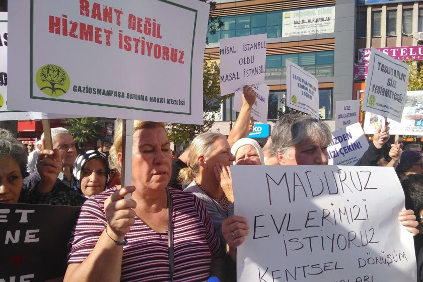 Gaziosmanpaşa Barınma Hakkı Meclisi'nden kentsel dönüşüm eylemi