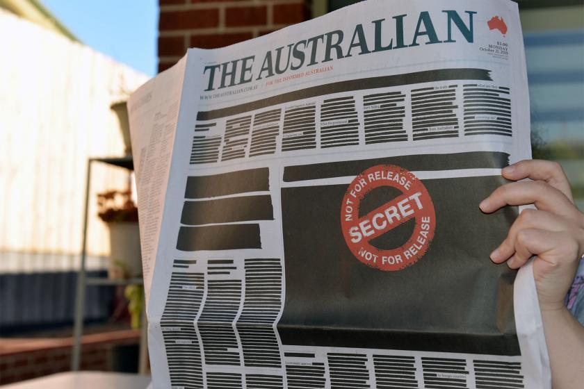 Avustralya'da sansür protestosu: Tüm gazeteler ilk sayfalarını kararttı