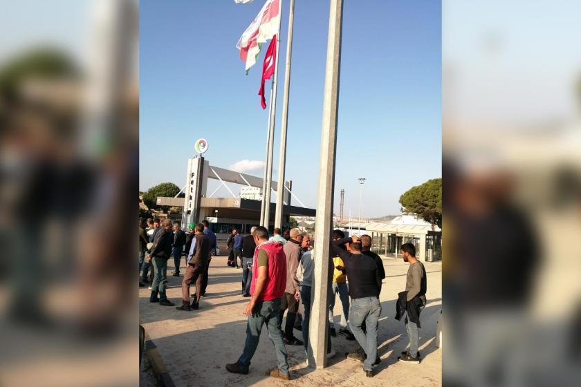 İşçiler hakları için PETKİM önünde eylem yaptı