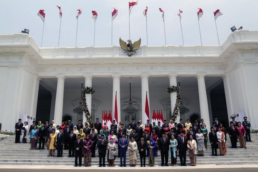 Hükümet protestolarına sahne olan Endonezya'da yeni hükümet kuruldu