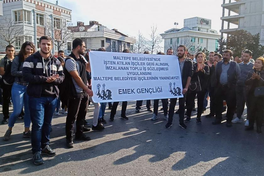 Maltepe Belediyesi işçilerinin eylemine Emek Gençliğinden destek