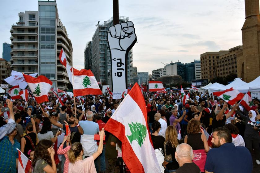 Lübnan'da yol kapatan halka asker saldırdı, çok sayıda kişi yaralandı