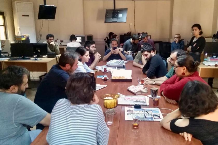 TGS İstanbul Şubesi, Evrensel çalışanlarıyla buluştu