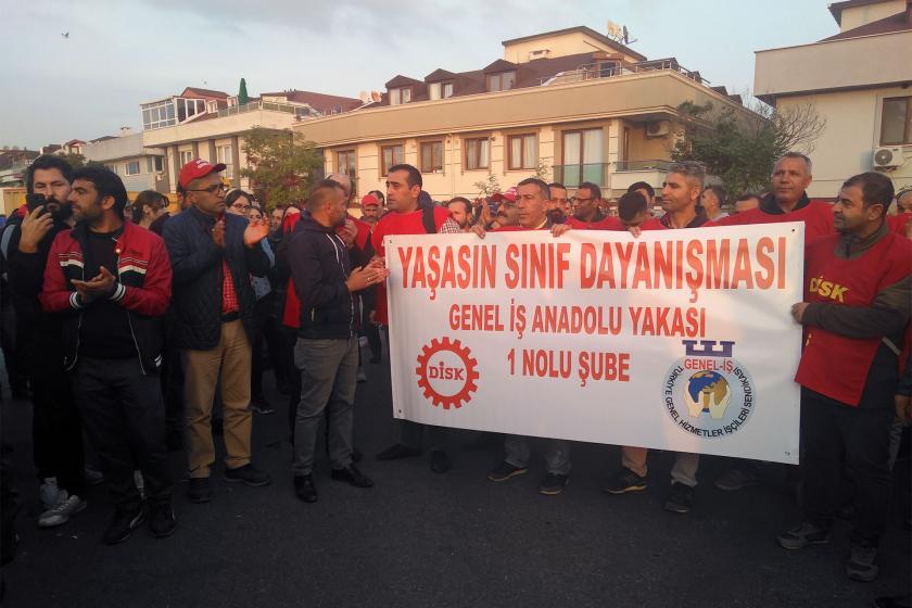 Maltepe Belediyesi Fen İşleri Müdürlüğü işçileri de iş bıraktı