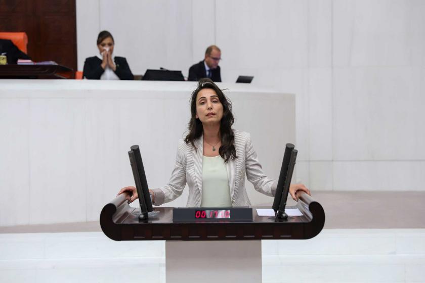HDP Adana Milletvekili Tülay Hatimoğulları Meclis kürsüsünde konuşuyor