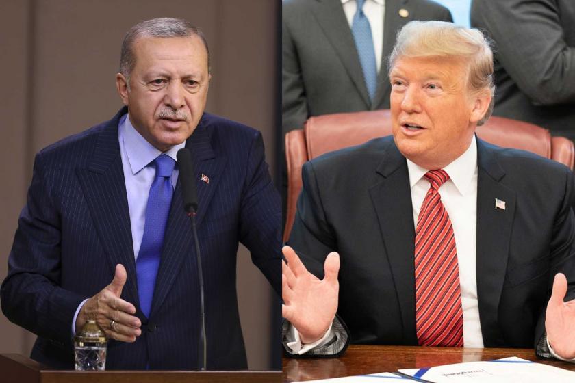 Cumhurbaşkanı Tayyip Erdoğan (solda)   ABD Başkanı Donald Trump (sağda)