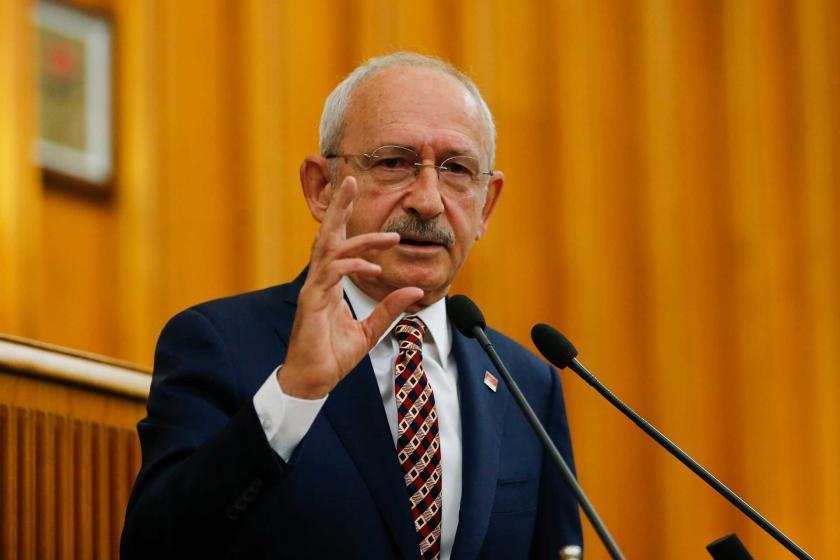 CHP Genel Başkanı Kemal Kılıçdaroğlu, partisinin Meclis grubunda konuşuyor
