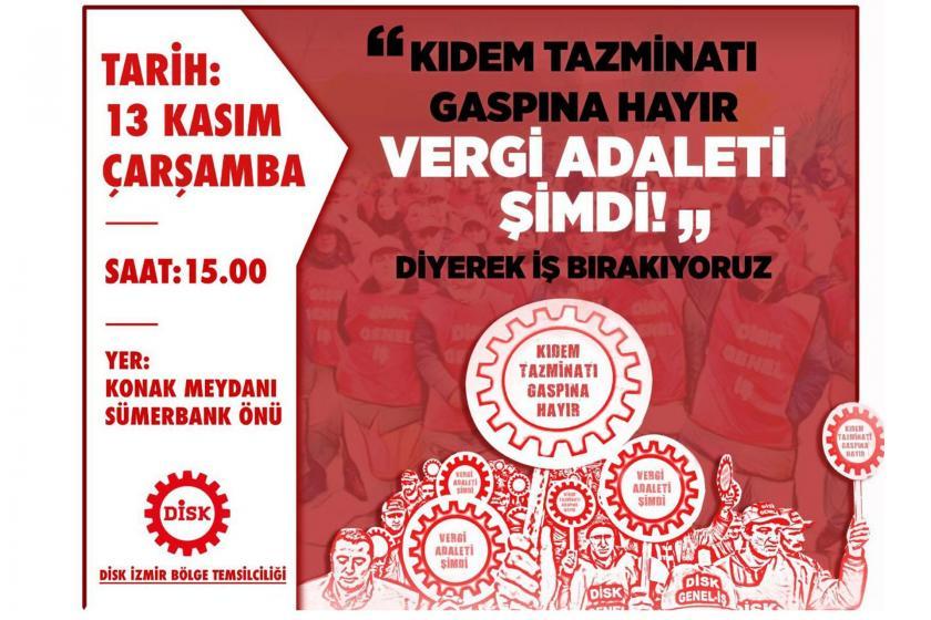 DİSK İzmir Bölge Temsilciliğinin