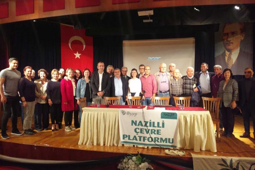 Nazilli Çevre Platformu tarafından gerçekleştirilen JES paneli katılımcıları.