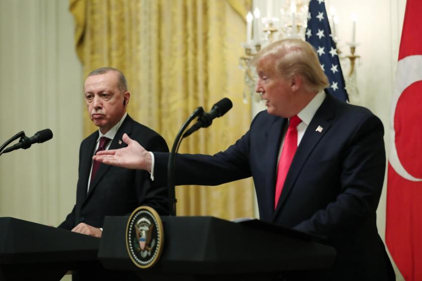 Cumhurbaşkanı Erdoğan ile ABD Başkanı Trump ortak basın toplantısında konuşurken