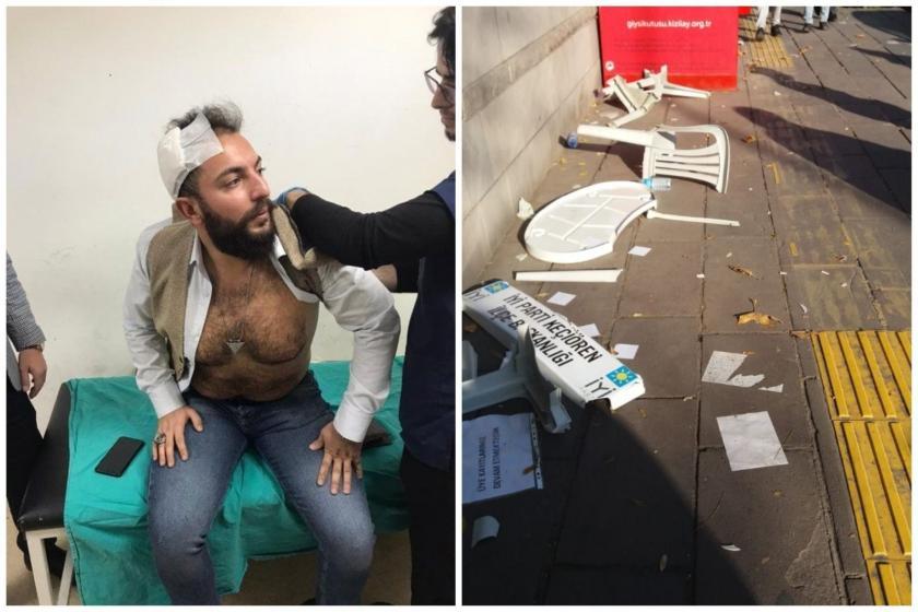 Ankara'da İYİ Parti Keçiören Gençlik Kolları'nın açtığı stant saldırıya uğradı.