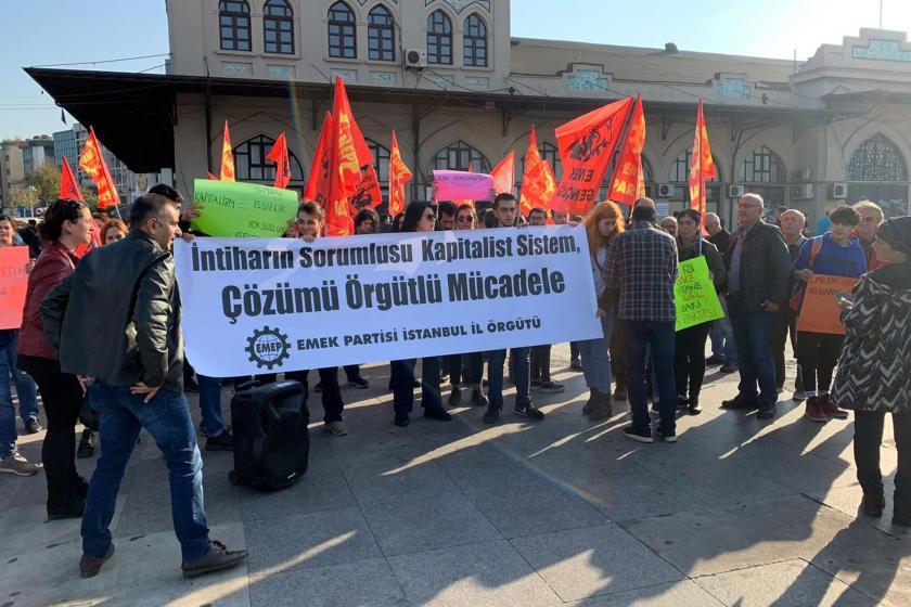 emek partisi istanbul il örgütünün kadıköy'deki basın açıklaması