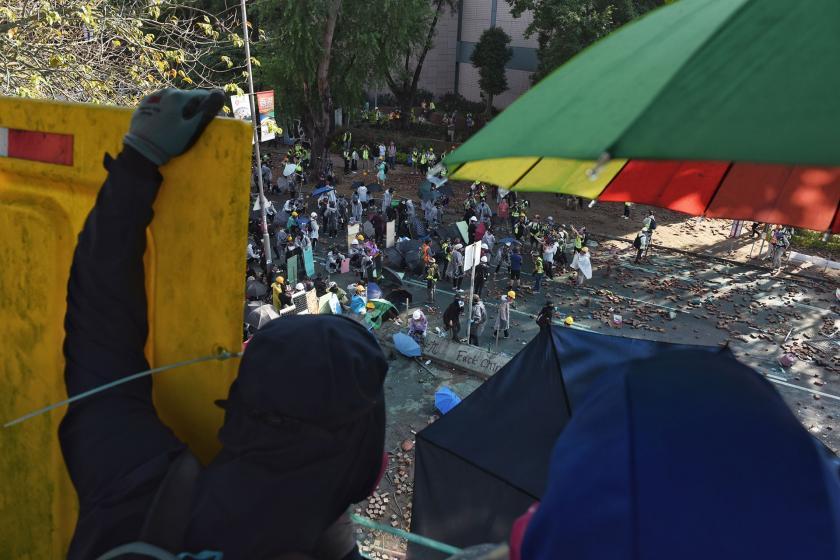 hong kong'daki eylemciler