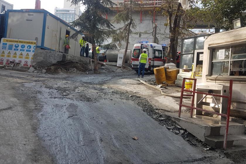 Taksim'deki AKM inşaatı şantiyesinden bir fotoğraf