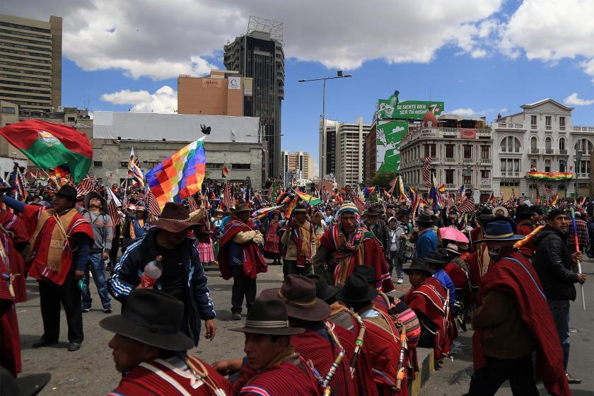 Bolivya'da yerlilerin darbe protestosu