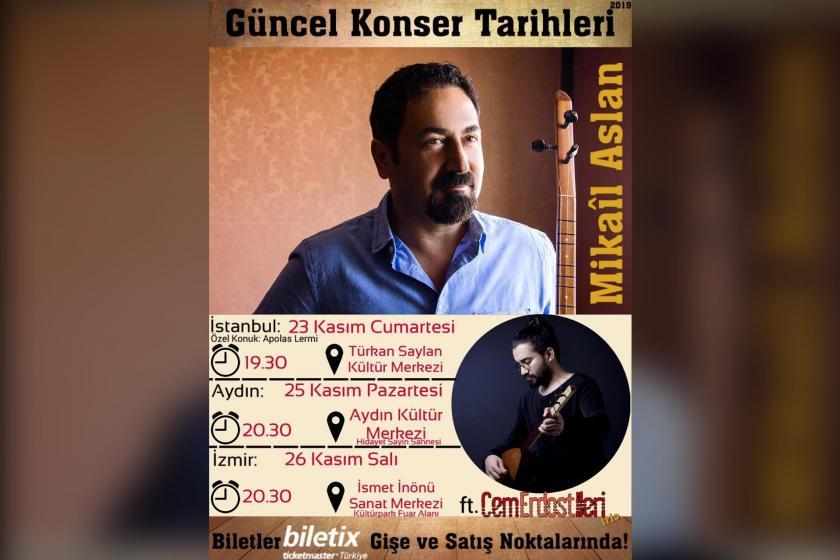Mikail Aslan ve Cem Erdost İleri konseri afişi