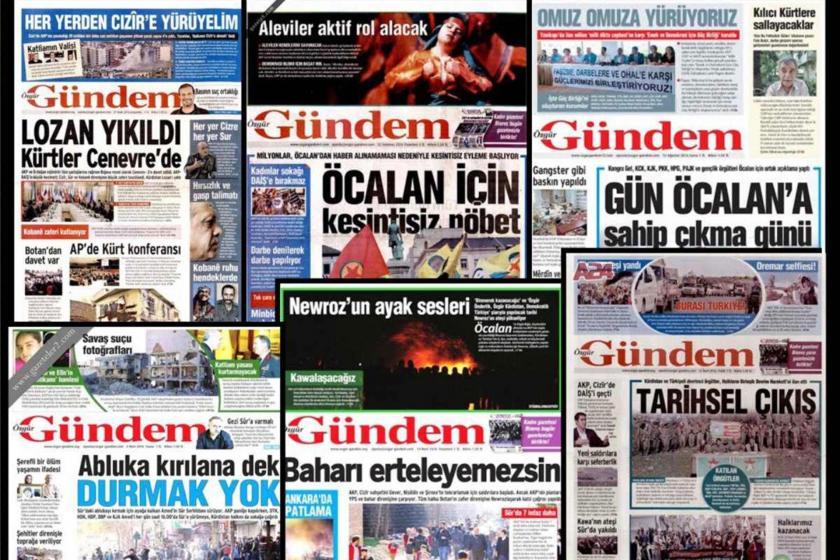 Özgür Gündem gazetesi manşetleri