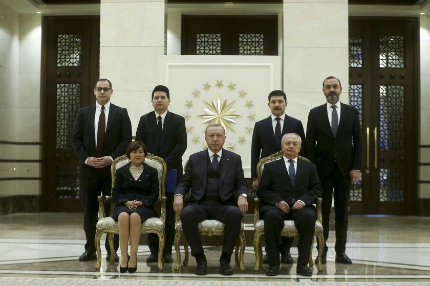 Cumhurbaşkanı Tayyip Erdoğan, Ekvator Cumhuriyeti'nin Ankara Büyükelçisi Fanny De Lourdes Puma Puma'yı kabul etti.