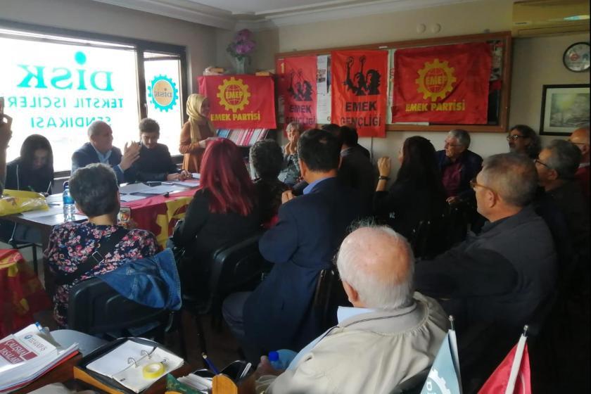 EMEP Söke İlçe Örgütü kongresini gerçekleştirirken