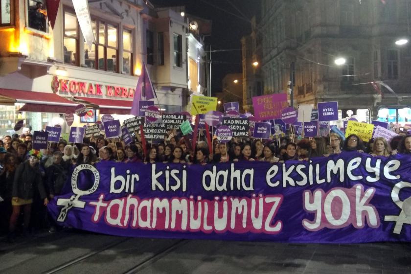 Taksim'deki 25 Kasım eylemi