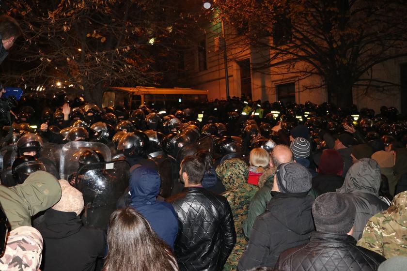 Gürcistan'da eyleme polis müdahalesi