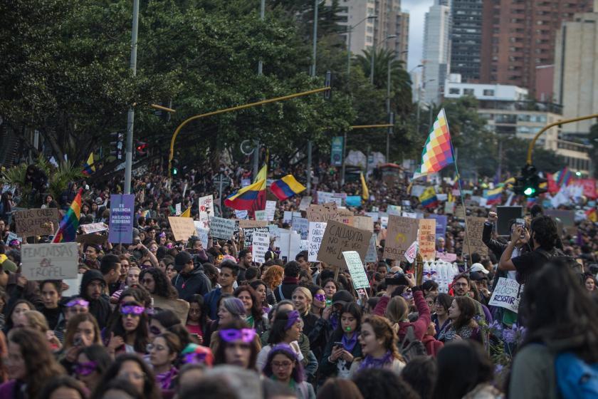 Kolombiya'da 25 Kasım eylemi