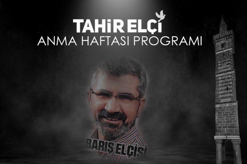 Tahir ELçi Anma Haftası Programının afişi