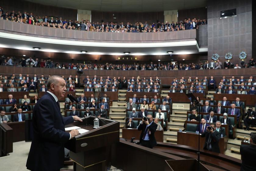 Cumhurbaşkanı Tayyip Erdoğan AKP Grup toplantısında konuşuyor