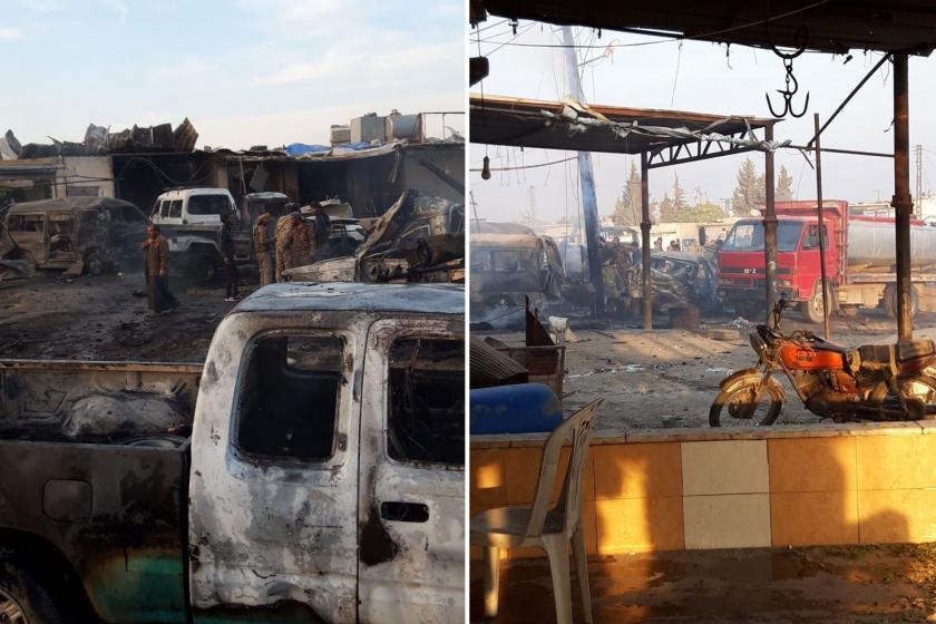 Tel Halef'teki patlama.