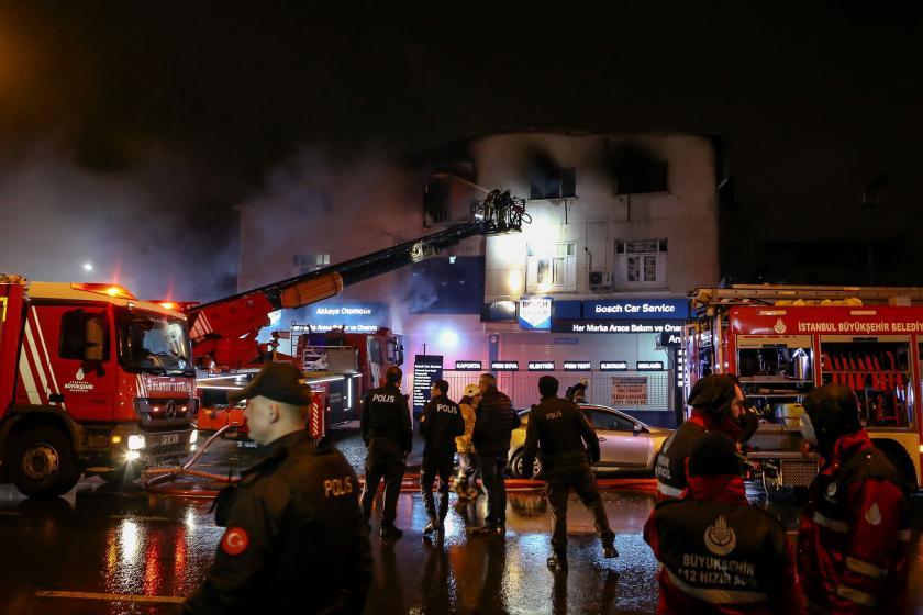 Güngören'de tekstil atölyesinde yangın