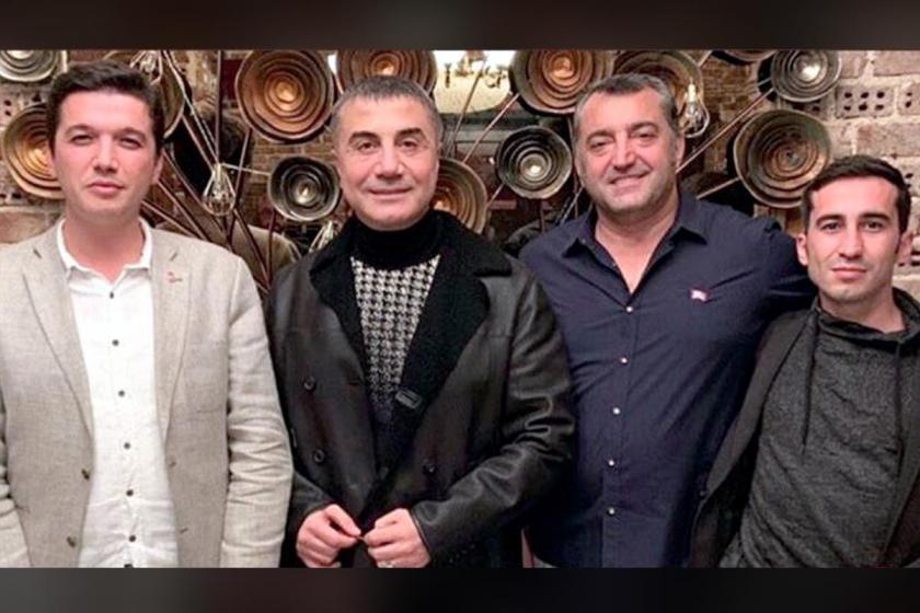 Sedat Peker, Vatan Partisi İstanbul İl Başkanı Cem Dikmen ve partinin İstanbul Örgütlenme Büro Başkanı Bora Çelik ile