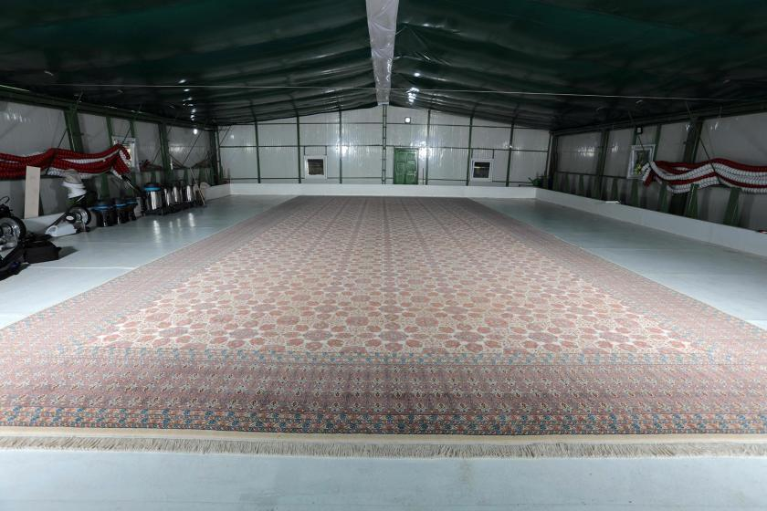 Cumhurbaşkanlığı Saray'ında kullanılan 108 metrekarelik Hereke halısı